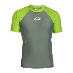Triko UV 300 slim-fit  krátký rukáv Neon-green/olive