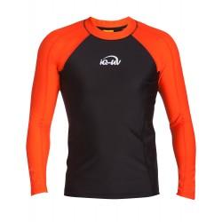 Triko UV 300 slim-fit dlouhý rukáv Černo/oranžové