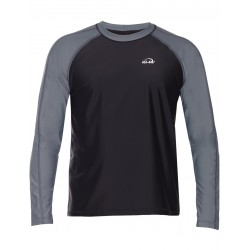 Triko UV 300 loose-fit  dlouhý rukáv Černo/šedé