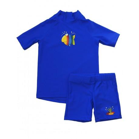 Triko a šortky IQ UV 300 dětské, krátký rukáv