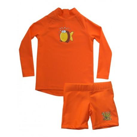 Triko a šortky IQ UV 300 dětské, dlouhý rukáv