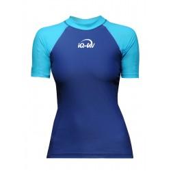Triko UV 300 slim-fit  krátký rukáv tyrkys/modrá