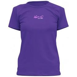 Triko UV 300 loose-fit  krátký rukáv fialové