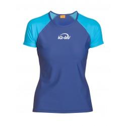 Triko UV 300 loose-fit krátký rukáv tyrkys/modrá