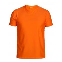 Triko UV 300 V regular-fit  krátký rukáv Oranžové