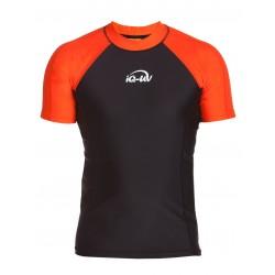 Triko UV 300 slim-fit  krátký rukáv Černo/oranžové