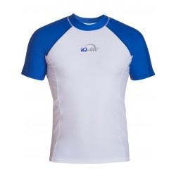 Triko UV 300 slim-fit  krátký rukáv Bílo/modré