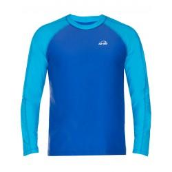 Triko UV 300 loose-fit  dlouhý rukáv Modro/tyrkysové