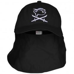 Čepice UV 200 Cap Jolly s ochranou krku black