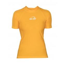 Triko UV 300 slim-fit  krátký rukáv Žluté