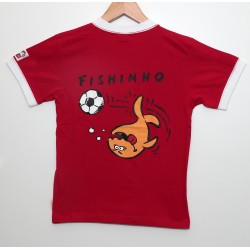 Triko IQ KIDS FOOTBALL SHIRT FISHINHO! red