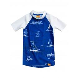 Triko UV 230 Sea Kids krátký rukáv (6-13 let) modré