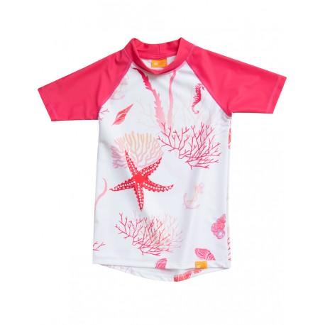 Triko UV Shirt Corals Girls krátký rukáv (6-13 let) pink