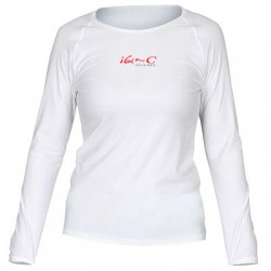 Triko UV 300 loose-fit  dlouhý rukáv Bílé