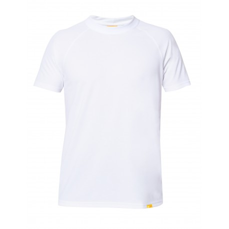 Triko UV OUTDOOR Round Neck krátký rukáv bílé