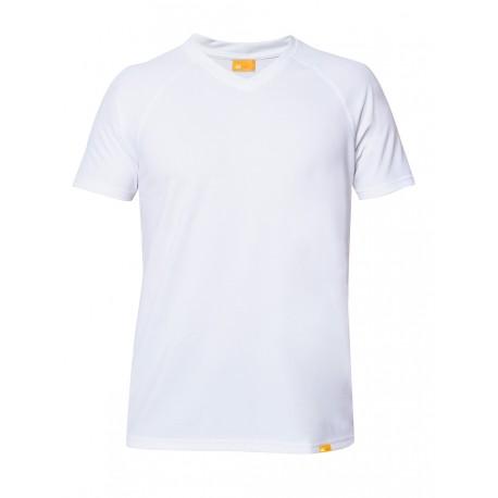 Triko UV OUTDOOR  V-neck krátký rukáv bílé