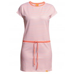 Šaty UV Pruhované OUTDOOR aperol/bílá