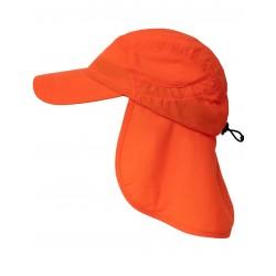 Čepice UV 400+ Cap+Neck s ochranou krku HiVi orange