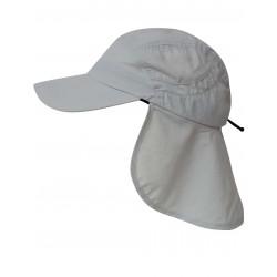 Čepice UV 400+ Cap+Neck s ochranou krku Grey