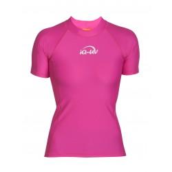 Triko UV 300 slim-fit  krátký rukáv růžové