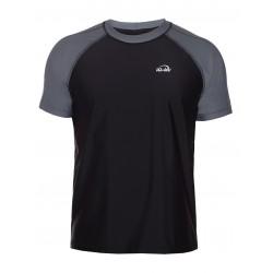 Tričko UV 300 krátký rukáv šedá/černá volný střih
