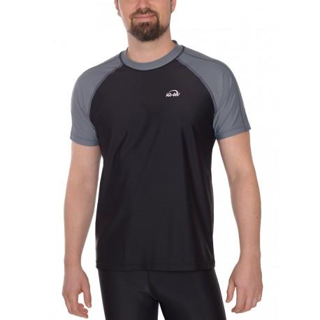triko UV 300 Tričko UV 300 krátký rukáv šedá_černá volný střih 648130